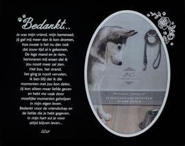 7043 Fotolijst In memoriam voor dieren.