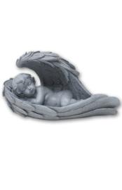 700960 Engel slapend in vleugels (rechts) Geschikt voor buiten.