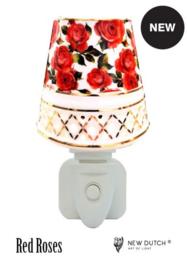 "500421 porseleinen nachtlampje ""red roses"""