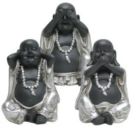 200962  serie boeddha`s 15cm hoog