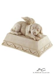 300739 urn met hond en engel