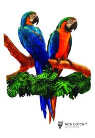 7020 Wildlife Papagaaien kapstok