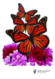 7022 Wildlife kapstok met vlinders