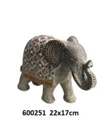 600251 Olifant met spiegeltjes decoratie