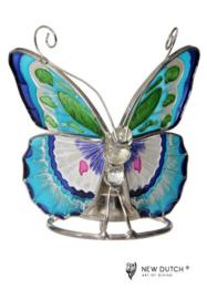 500243 Tiffany waxchinelicht houder vlinder