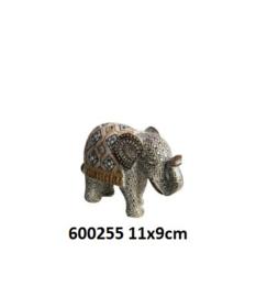 600255 Olifant met spiegeltjes decoratie