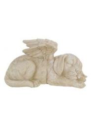 300730 Urn met hond en engel