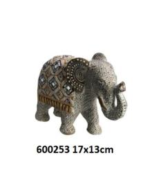 600253 Olifant met spiegeltjes decoratie