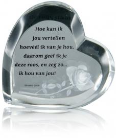 300450 Kristallen Hart/ De roos staat symbool