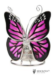 500244 Tiffany wachinelicht houder vlinder