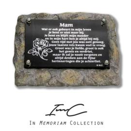 """1651 houder met tekstplaatje  """"Mam"""""""