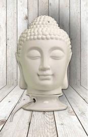 200949  Boeddha hoofd als lamp en geurbrander