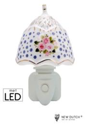 Nachtlampje van porselein met LED verlichting