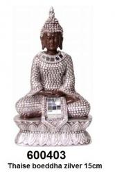 600403 Thaise boeddha zilver 15,5cm