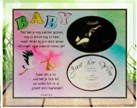 300121 Glasfotolijst voor Baby