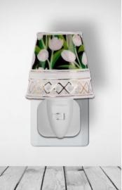 500152 Nachtlampje met witte tulpen