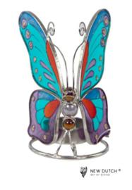 500248 Tiffany waxlicht vlinder