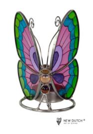 500249 Tiffany wachinelichthouder vlinder