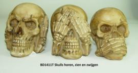 BD1411T Skull serie Horen, zien en zwijgen.