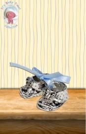 200974 Kinderschoentje met blauwe strik