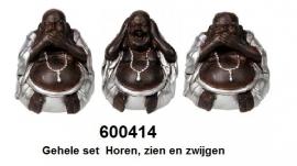 600414 gehele serie horen, zien en zwijgen, 5cm hoog