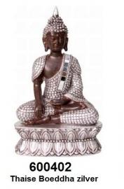 600402 Thaise boeddha zilver 15,5cm