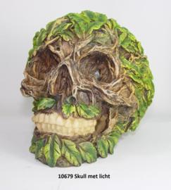 10679 Skull met bladeren en verlichting