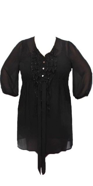 DNY Tinnie dress met ondertop