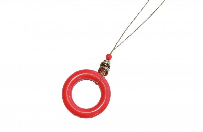 Ketting - ronde hanger - Koraal