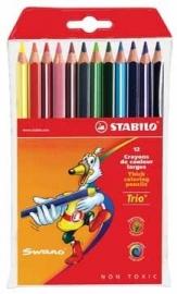 Stabilo kleurpotlood Trio 12