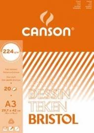 Canson tekenblok Bristol A3