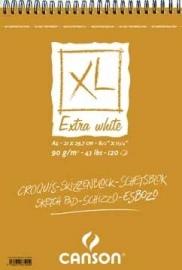 Canson schetsblok XL Extra White A4