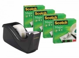 Scotch Plakbandafroller Two Tone Black