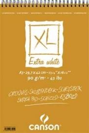 Canson schetsblok XL Extra White A3