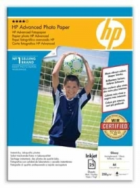 Hewlett Packard Glossy Photo Paper A4 250 g/m²