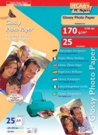 Decadry fotopapier BudgetLine 180 g/m², pak van 25 blad A4