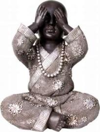 See No Evil Resin Buddha (Kind)