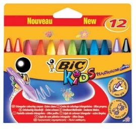 Bic waskrijt Plastidecor Triangle 12