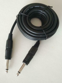 6.3mm mono jack male male audio/muziek instr kabel 5 meter