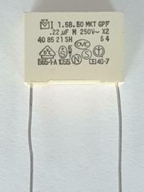 Rifa 0.22uf X2 condensator vervanger steek 22mm