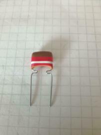 Mullard 1,2nf 250v 10mm vlag tropical fish condensator