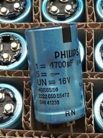 Philips 4700uf 16v elco radiaal