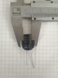 Frolyt 100uf 63v audio elco 20mmx10mm 5mm steek
