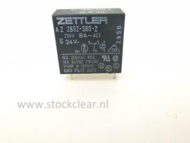 Zettler 24V 1x wissel 8A 250VAC printrelais