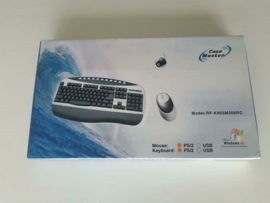 Vintage PS/2 Wireless keyboard and optical mouse