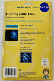 Akasa external EL string cable USB2 connection blue  1,5m