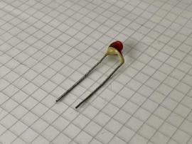 Philips 220pF 500V pin up keramische condensator 7,5mm steek