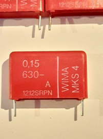 Wima 0,15uf  630v MKS-4 condensator