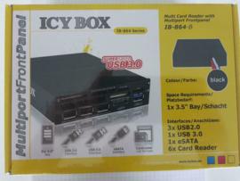 "Icy Box IB-864B 3.5"" USB hub + cardreader, SATA port"