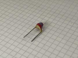 Philips 2700pF (2,7nF) pin up keramische condensator 7,5mm steek